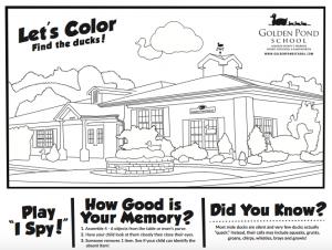Golden Pond School – Golden Pond School Activity Sheet - News